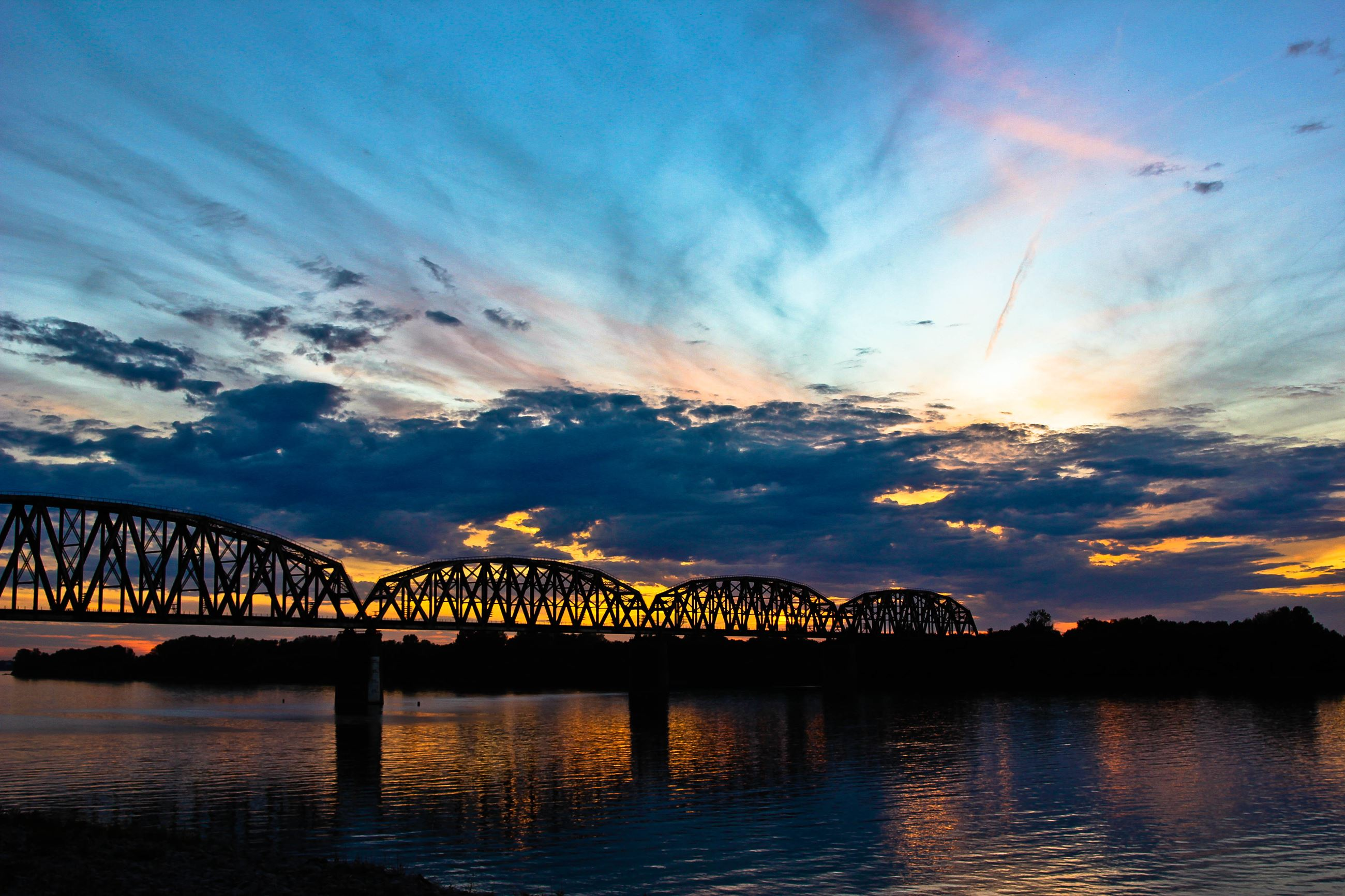 Henderson riverfront at sunset